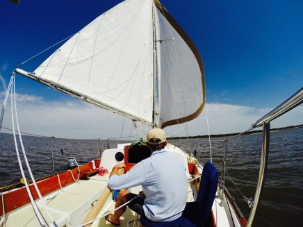 Kyle sailing in local Georgia waters