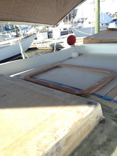 Position for hatch frame