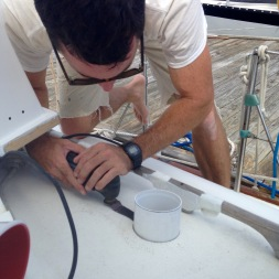 Installing and cutting vent tube