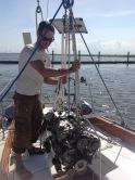 Removing diesel engine