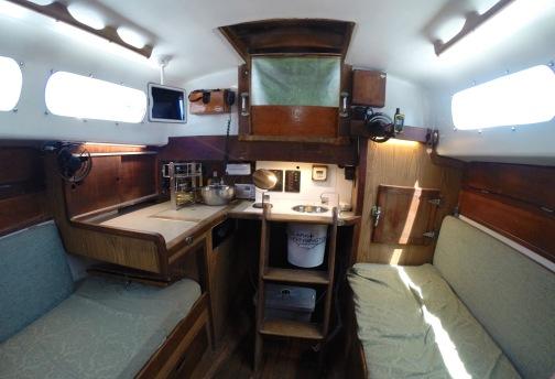 Original interior, icebox on the right