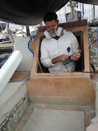 Fiberglassing bulkhead