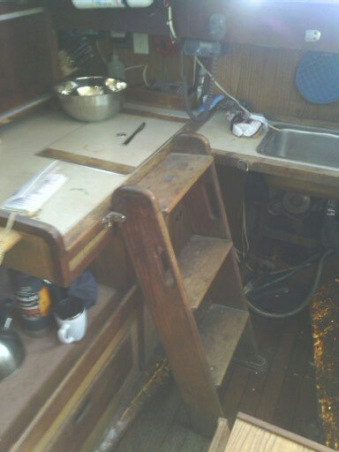 Original sink and galley