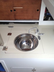 Sink (giant salad bowl) in place