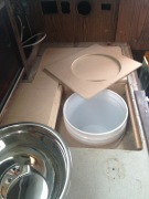 Dry fit of bucket sink