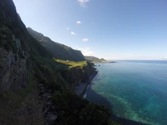 Looking back on Faja Grande from trail to Ponta Delgada
