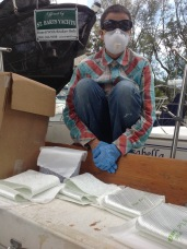 Getting ready to fiberglass
