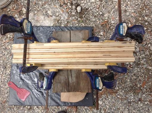 Laminating plywood to fill hull side