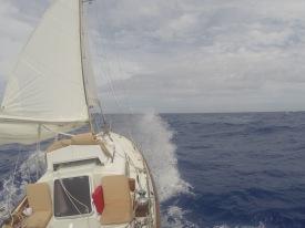 Dawn Treader at sea