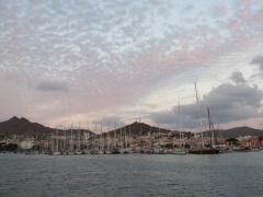 View of Mindelo Marina