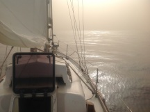 Sailing in the lee of Sao Nicolau