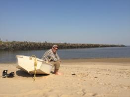 Brian and Junior at the beach, Boca del Cufre